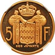 5 Francs - Rainier III (Essai) – reverse