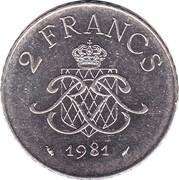 2 Francs - Rainier III – reverse
