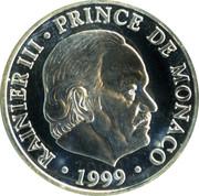 100 Francs - Rainier III (Anniversary of Reign) – obverse