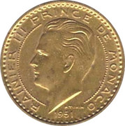 20 Francs - Rainier III – obverse