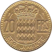 20 Francs - Rainier III – reverse
