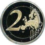 2 Euro - Albert II (Prince's Company of Carabiniers) -  reverse