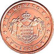 5 Euro Cent - Rainier III – obverse