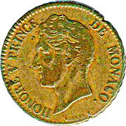5 Centimes - Honoré V (small head) – obverse