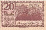 20 Heller (Mondsee) -  reverse