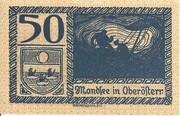 50 Heller (Mondsee) – obverse