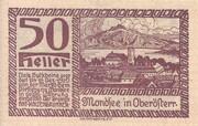 50 Heller (Mondsee) – reverse