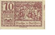 10 Heller (Mondsee) – obverse