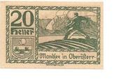 20 Heller (Mondsee) – obverse