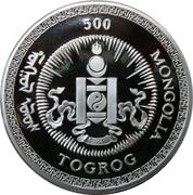 500 Tögrög (Year of the Monkey) -  obverse