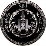 50 Tögrög (Year of the Rat; gilt) – obverse