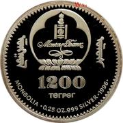 1200 Tögrög (Chinggis Khan) -  obverse