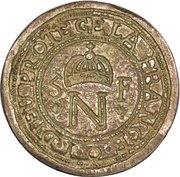 5 Francs - Napoleon (countermarked on 10 Francs) – obverse