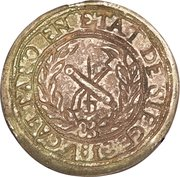 5 Francs - Napoleon (countermarked on 10 Francs) – reverse
