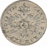 4 Kreuzer - Karl VI – obverse