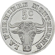 5 Centimes (Montherme) – obverse