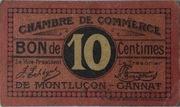 10 Centimes Chambres de Commerce de Montluçon et de Gannat – obverse