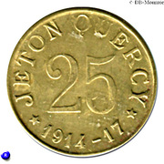 25 Centimes (Quercy) – reverse