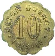10 Centimes (Jeton Quercy; Montpellier) – obverse