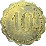 10 Centimes (Jeton Quercy; Montpellier) – reverse