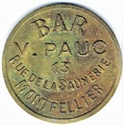10 Centimes - Bar V. Pauc (Montpellier) – obverse