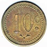 10 Centimes - Bar V. Pauc (Montpellier) – reverse
