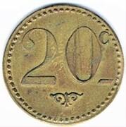 20 Centimes - Bar V. Pauc (Montpellier) – reverse