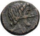 Bronze Æ20 (The Hispani) – obverse