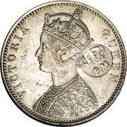 450 Réis (Countermark over 1 Rupee /Índia,Bt) – obverse