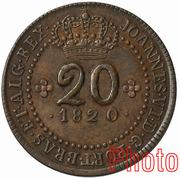 20 Réis - João VI (Rio de Janeiro mint) – obverse