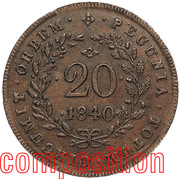 20 Réis - Maria II (Lisboa mint) – reverse
