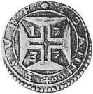 400 Réis - João V (Goa mint) – reverse