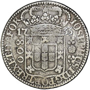 800 Réis- José I (Colonial Coinage) – obverse