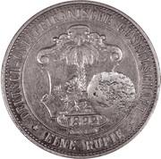 450 Réis (Countermark over 1 Rupee/German East Africa) – reverse