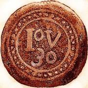 30 Réis - João V (Goa mint) – reverse