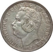 450 Réis (Countermark over 1 Rupee/India,Pt) – obverse