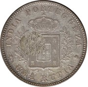 450 Réis (Countermark over 1 Rupee/India,Pt) – reverse