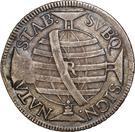 """1000 Réis - José I (Countermark """"M"""" over 600 Réis""""J""""/Brazil) – reverse"""