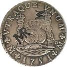 "2 400 Réis - José I (Counterstamp ""MR"" over 8 Reales/México) – obverse"