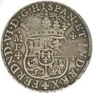 "2 400 Réis - José I (Counterstamp ""MR"" over 8 Reales/México) – reverse"