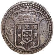 200 Réis - João V (Goa mint) – obverse