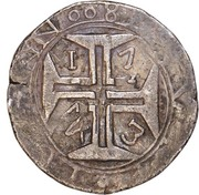 800 Réis - João V (Goa mint) – reverse