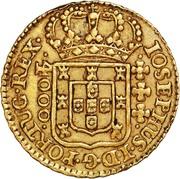 4000 Réis - José I (Lisbon mint) – obverse