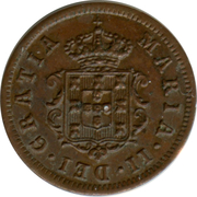 1 Real - Maria II (Colonial Coinage) – obverse