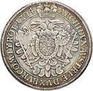 2.400 Réis - Contermark MR over 1 Thaler Austria 1704 – reverse