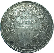 450 Réis (Countermark over 1 Rupee /Índia,Bt) – reverse