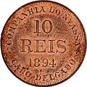 10 Réis – reverse