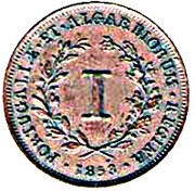 1 Real - Maria II (Colonial Coinage) – reverse