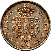 2 Réis - Maria II (Colonial Coinage) – obverse