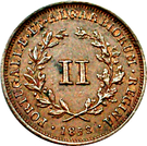 2 Réis - Maria II (Colonial Coinage) – reverse